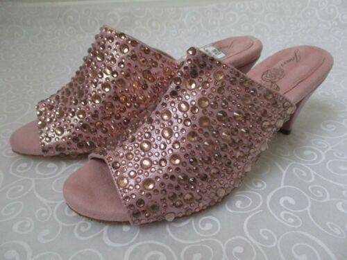 Gold Encruste Nuevo W zapatos tamaño Toe Boyce 1 Ope Rhinestone 2 9 Rose Joan 5qOn0t5