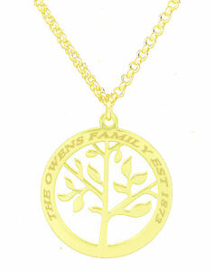 Family-Tree-Of-Life-Pendant-Personalised-Engraved-Name-Necklace-Gold-Plated-Gift