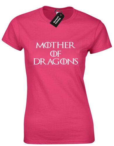 Mother of dragons femme t shirt a show tv livre inspiré stark nouveau haut tee