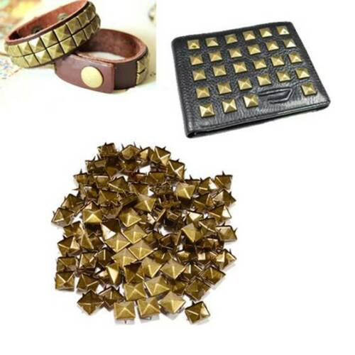 100pcs Claw nails punk Rivets Studs square bronze pyramid SS