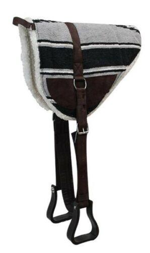 Red NAVAJO PRINT sans selle Chabraque avec Polaire Bas Nouveau Horse Tack