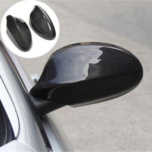 2x-Carbon-Fiber-Side-Mirror-Cover-Cap-Shroud-For-BMW-E90-E91-330i-335i-2005-2008