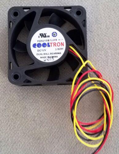 12VDC 3 Wire. 50mm FAN CoolTron FD5015B12W9