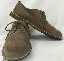 Mens UGG Australia Chaucer Brown Suede Casual Oxford Shoes Size 10