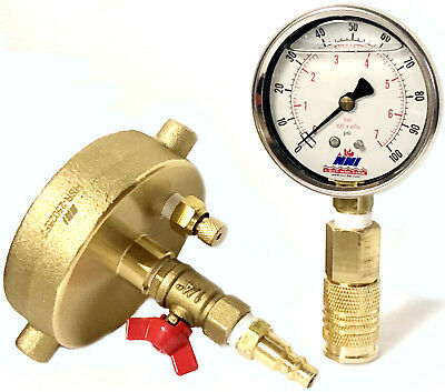 """NNI 2-1//2/"""" NST Fire Hydrant Static Pressure Gauge 0-160Psi with Bleeder valve"""