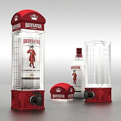 London Dispenser Erogatore Birra Vino Acqua Bevande 1LT Forma Cabina Telefonica