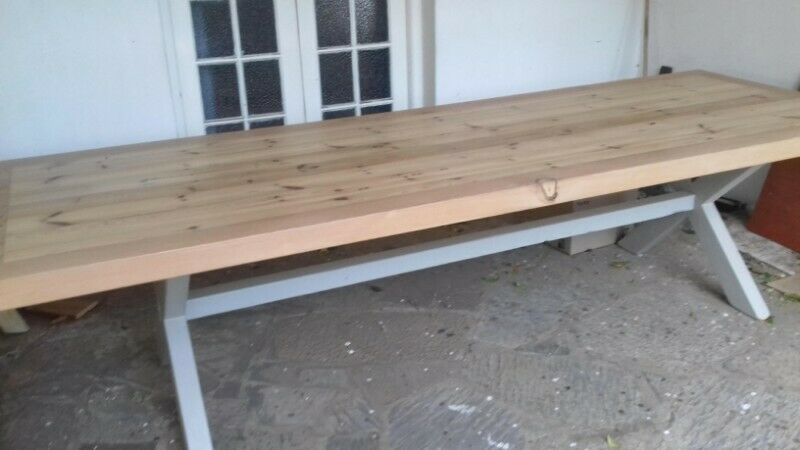 12 Seater Dining Room Table. 60mm thick top.
