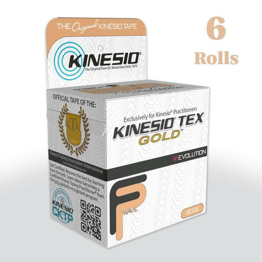 KINESIO FP Tape - 6 Rolls 5m x 5cm BEIGE Kinesiology for Injuries & Support
