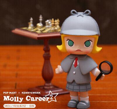 POP MART KENNYSWORK Molly Career Mini Figure Designer Toy Figurine Cook Black
