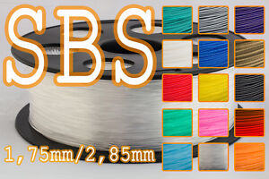 Professional Sale Filament Sbs 1,75 Mm 2,85 Mm 1kg Reprap Ultimaker Makerbot Zortrax Matching In Colour 3d Printer Consumables