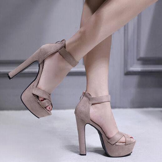 Sandali   Sandali tacco plateau 14 cm grigio simil pelle simil pelle eleganti 9193 f7a846