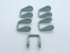 Extended-Dental-High-Volume-Evacuator-lever-replacement-gray-set-of-5-USA-Made