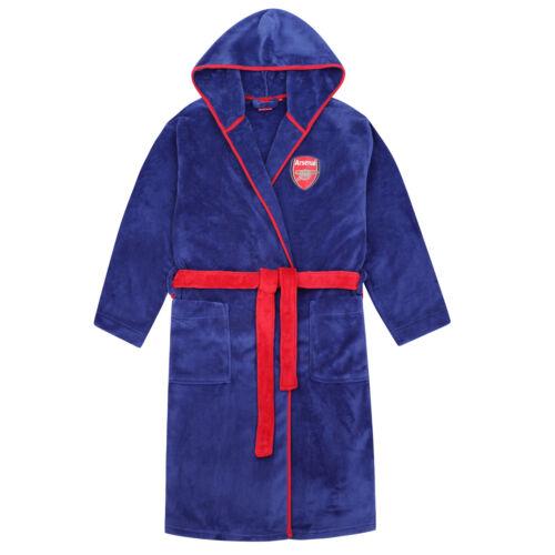 Arsenal FC Official Football Gift Boys Fleece Dressing Gown Robe