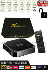T96 Mars Android 7.1 Smart TV Box 1GB//8GBAmlogic S905W Quad Core H.265 VP9 A3I6