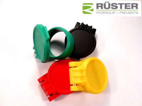 Staubschutzkappe für Hydraulik Kupplung BG3 rot gelb grün blau Traktor Unimog