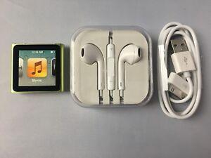 Apple Ipod Nano 6th Generation Green 8gb New Ebay