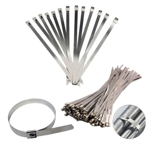 Various Sizes Stainless Steel Metal Exhaust Straps Cable Ties 5 Pack