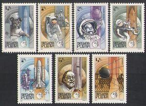 UNGHERIA-1982-spazio-LAIKA-GAGARIN-Armstrong-Rocket-Cane-astronauti-Set-7v-n35472