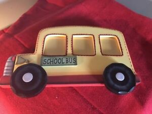 Yellow School Bus Photo Picture Frame 3 Picture Wooden 9 12 X 6 1