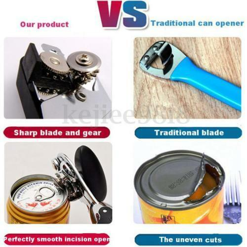 NON SLIP HEAVY DUTY STAINLESS STEEL TIN CAN OPENER WITH EASY COMFY GRIP KITCHEN