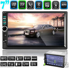 "7"" Double 2DIN In Dash Car Stereo Player USB SD Bluetooth IPOD FM Radio NEW"