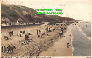 R416083 Saltburn by the Sea. The Sands and Promenade. 54876. Photochrom. 1930