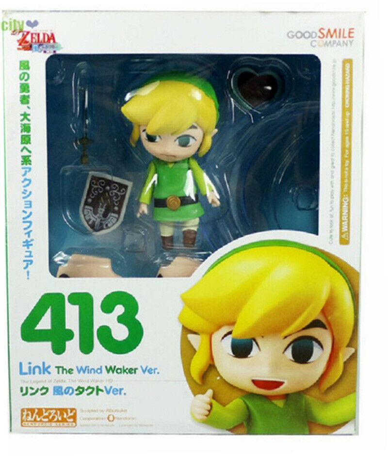 NendGoldid 100% Authentic 413 Legend of Zelda Wind Walker Link Anime Figure