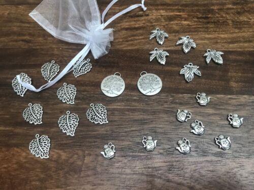 Craft Supplies 24pcs Job Lot of Tibetan Charms Argent Arbre de Vie Pendentifs