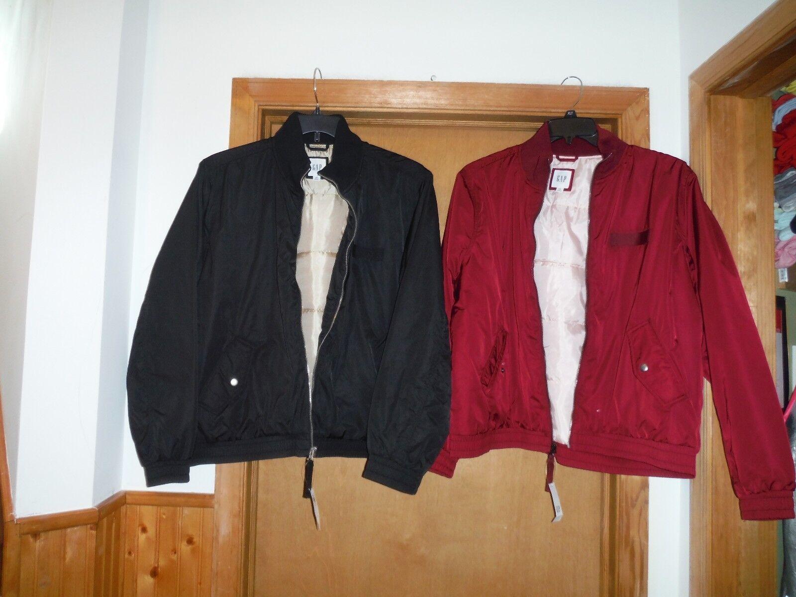 Long Sleeve Women's Bomber Jackets Gap 2XL,Black & Red Purple Full Zip 2 pockets