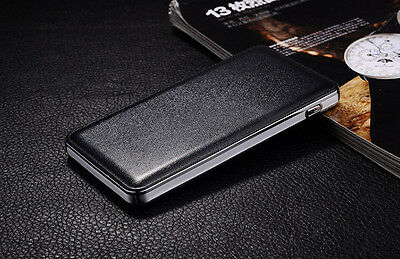 50000mAh Leather Power Bank External 2 USB Battery Charger For Phone Universal