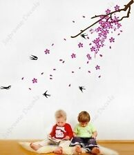 PINK BLOSSOM TREE AND BIRDS  WALL STICKER ART DECAL NURSERY/KIDS/GIRLS/BOYS ROOM