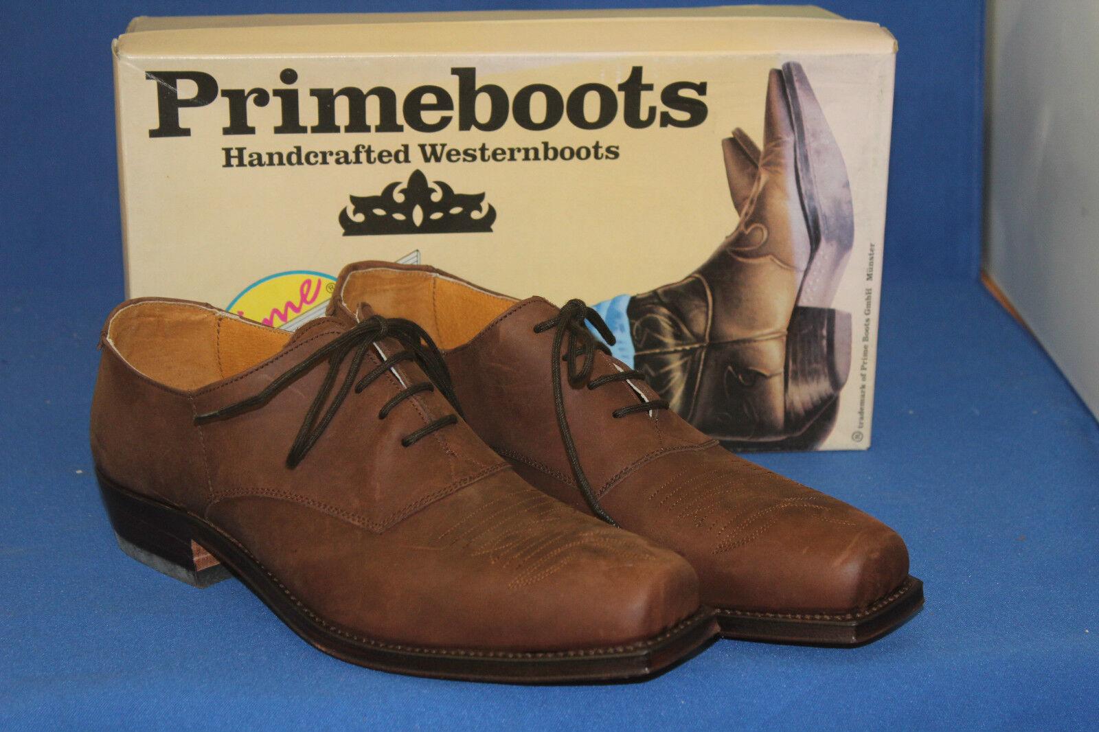 Prime Bottes Western Bottes Chaussure schnürrschuh Cuir Neuf Gr. 45 nobukleder