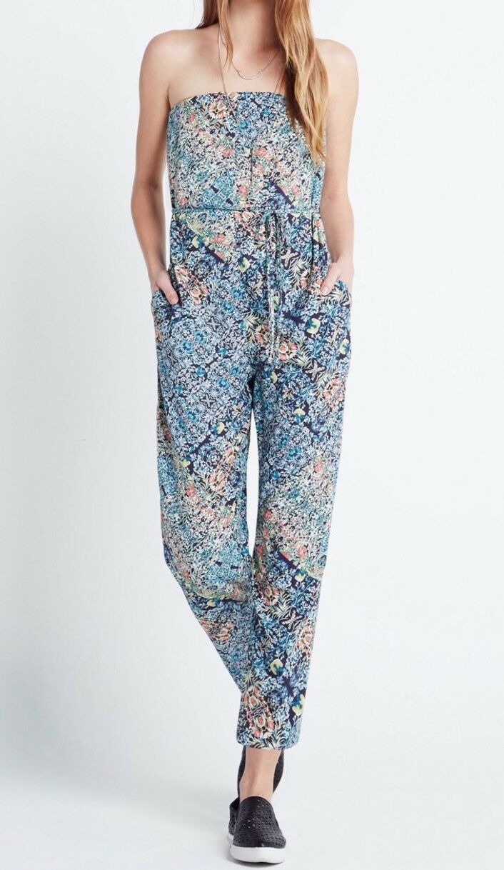 854a7a9e0ce New with tag 98 BCBGeneration Belted Strapless Floral Print B1707 Jumpsuit  Sz S nolhac3033-Jumpsuits   Rompers