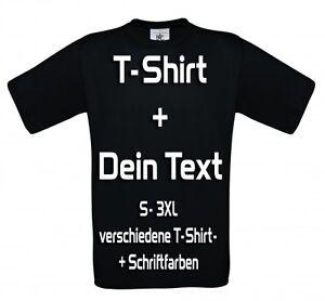 t shirt druck teamshirt bedrucken selbst wunschtext schriftzug motiv gestalten ebay. Black Bedroom Furniture Sets. Home Design Ideas