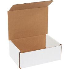 8 X 6 X 3 White Corrugated Mailingshipping Boxes Ect 32b 50case