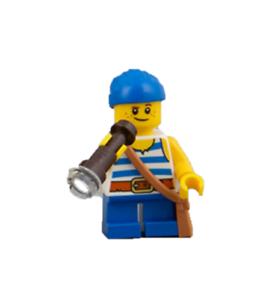 Lego Mini Figura Jack oscuro tiburón /'Doblones piratas de Barracuda Bay Set 21332
