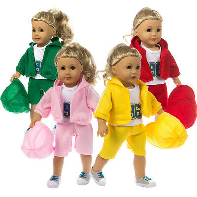 Handmade Sportswear Clothes Outfit Accessories For 18 inch American Doll Girls