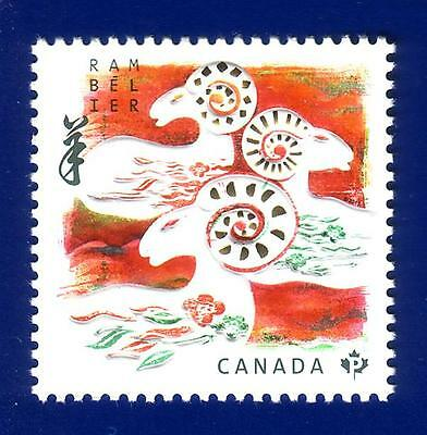 Canada 2015 Year of the Ram Stamp MNH !
