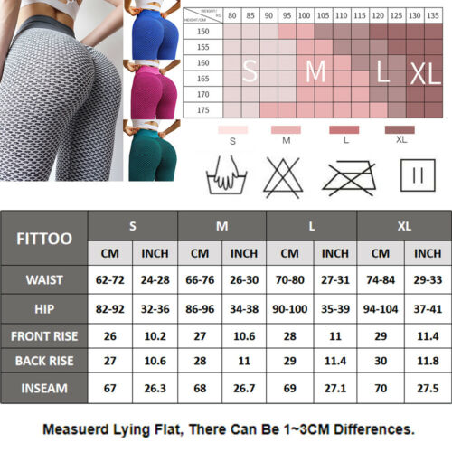 Details about  /Womens Anti-Cellulite Push Up Yoga Leggings Butt Lift Pants Workout Trousers GYM