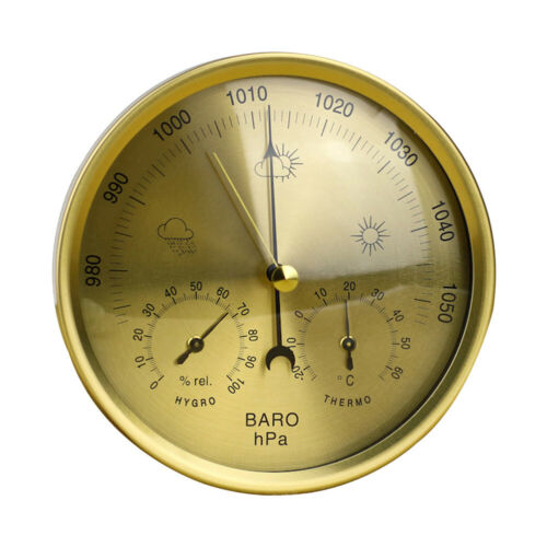 3in1 130mm Wall Mounted Barometer Thermometer Hygrometer Weather Station Hanging
