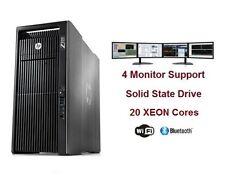 HP Z820 CAD WorkStaion Computer PC 20 Cores XEON NVIDIA Quadro M4000 512GB SSD
