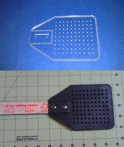 Image Is Loading Fly Swatter Template For Leather Craft Amp General