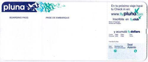 Uruguay Pluna Airlines Ticket Boarding Pass NEW RARE