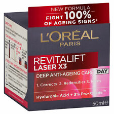 NEW L'Oreal Paris Revitalift Laser X3 Deep Anti-Ageing Firm Care Day Cream 50ml