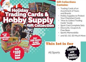 Holiday-Trading-Cards-amp-Hobby-Supplies-Mixed-Sport-Gift-Collection-Box-All-Sport