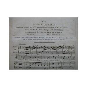 BOIELDIEU-Adrien-Jean-de-Paris-No-8-Chant-Piano-ou-Harpe-ca1815-partition-sheet