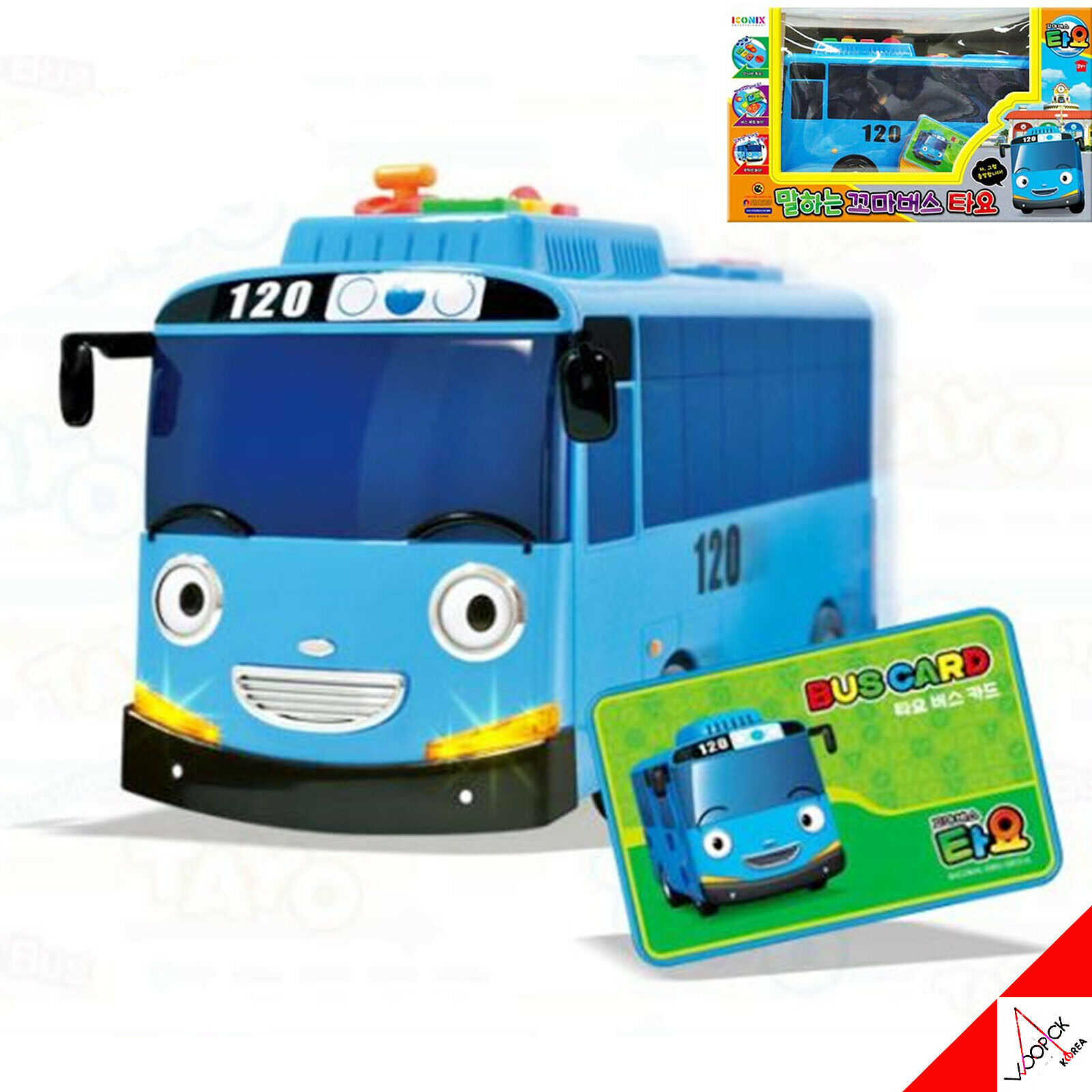 Little Bus TAYO Talking & Singing Melody,Recognition Bus Card Play Toy Korean TV