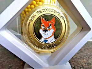 RARE FRAMED GOLD SHIBA INU $SHIB CRYPTO COIN.THE DOGE KILLER!FASTEST UK POST!!