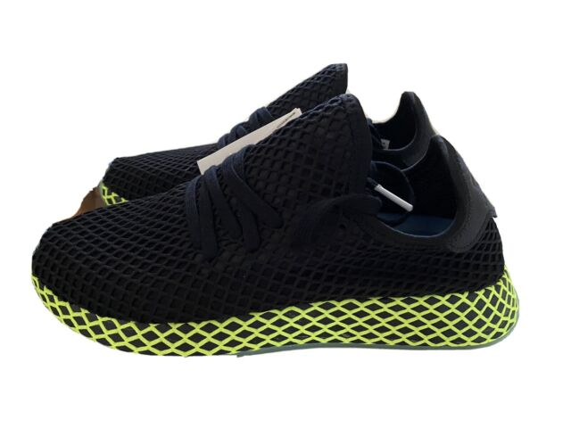 Size 7 - adidas Deerupt Black Neon for