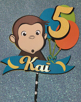 Customizable... Inspired curious George Cake Topper ...